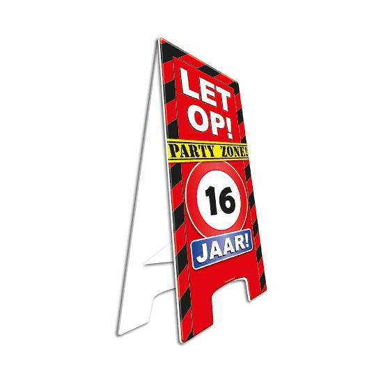Feestartikelen 16 Jaar Vloerbord 16e Verjaardag Feestartikelen Shop Nl